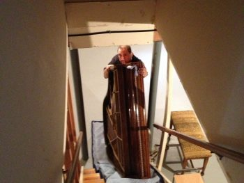 Chickering baby grand lands safely