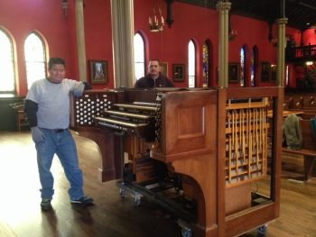 Moving a pipe organ console