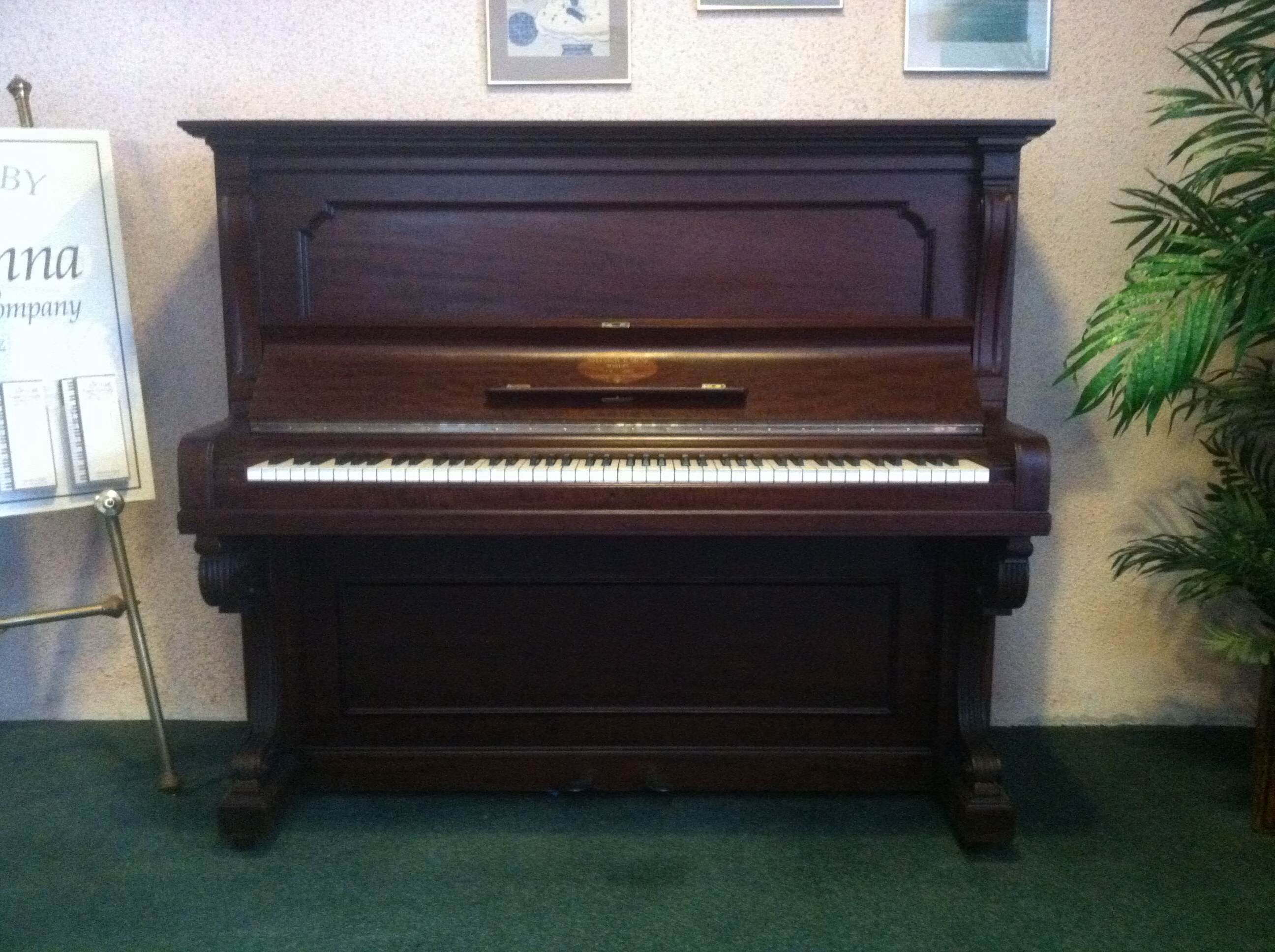 Steinway full upright vienna piano for Piano upright dimensions