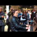 Professional at a Public Piano
