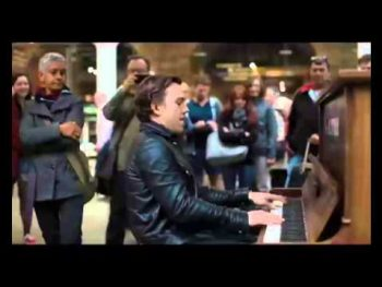 Professional at a Public Piano